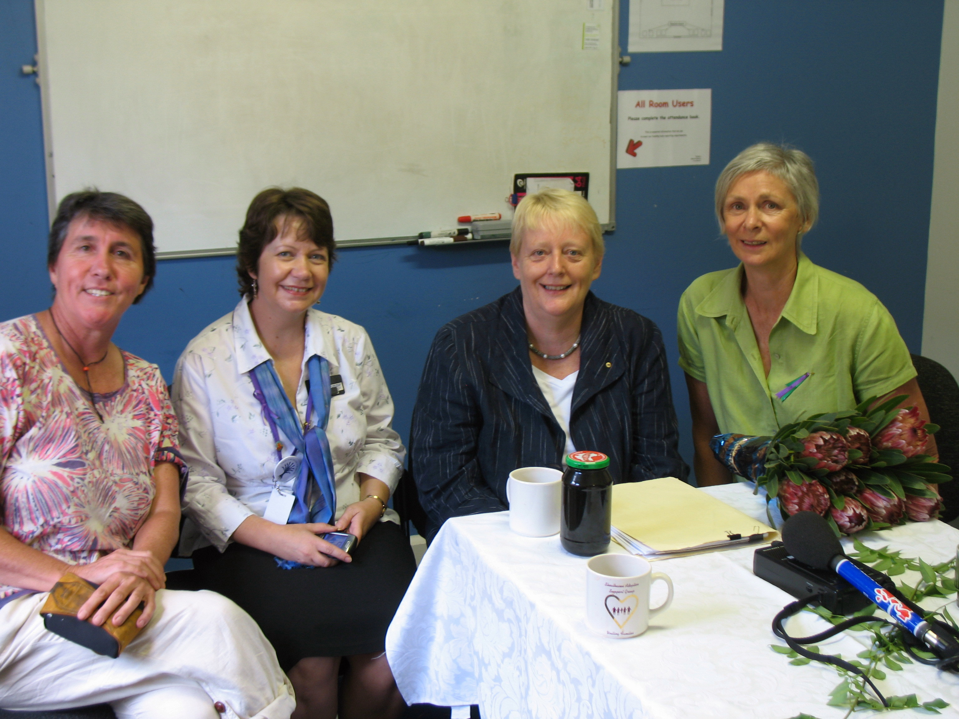 2010 IWD Breakfast: L to R, Marg McHugh, Melissa Hedges Chris Ronalds, Lynn Wallin