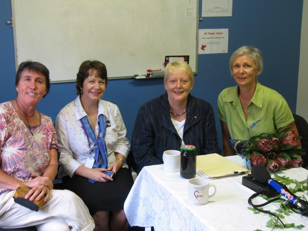 2010 IWD Breakfast: L to R, Marg McHugh, Melissa Hedges Chris Ronalds, Lyn Wallin