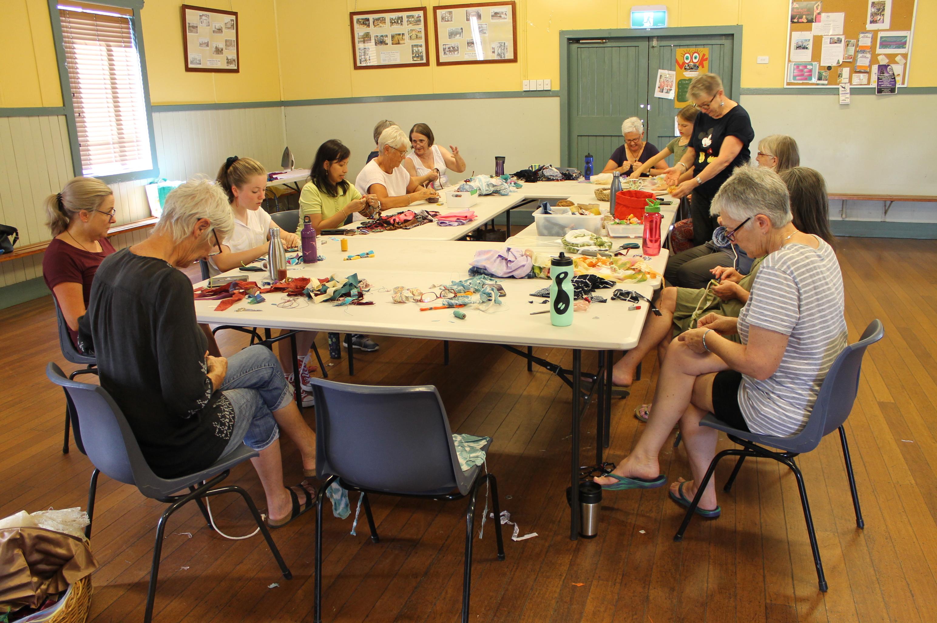 2020 - Weaving workshop at Tomerong Hall